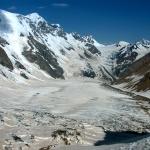 Безенгийская стена и ледник