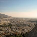 Вид на Афины с горы Ликавитос